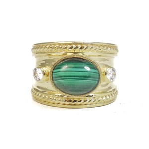 The Malachite Guinevere Ring