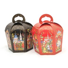 Bright Palekh, Gift Paper Boxes for Easter Cake/Kulich