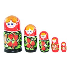 Strawberry Matryoshka, 5pcs