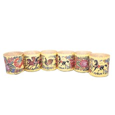 Gorodets Russian Painting, <br> Easter Baking Paper Pans