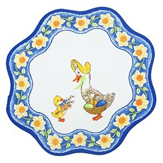Duck with duckling, Easter Serviette, Blue