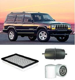 kit9815 filter kit jeep cherokee 4l 4 0l 1994 2001 xj 6 cylinder mx mpfi ohv 12v oil fuel air. Black Bedroom Furniture Sets. Home Design Ideas