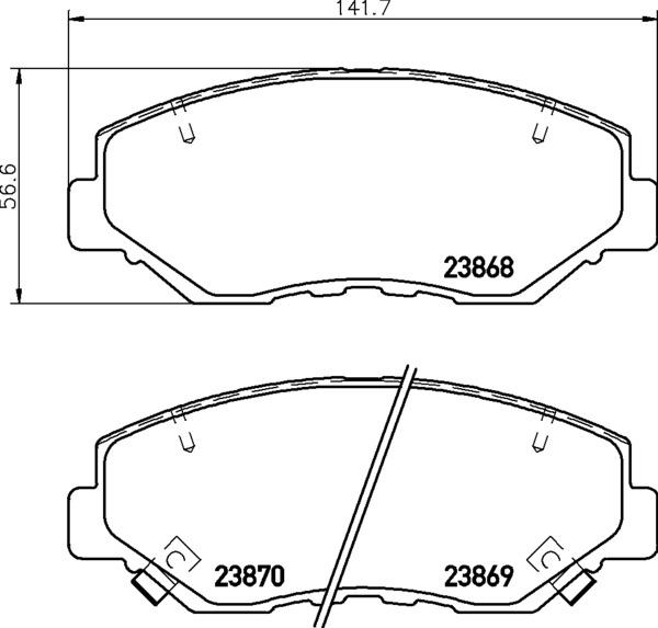 8db 355 010 231 Disc Pad Set Front With Acoustic Wear