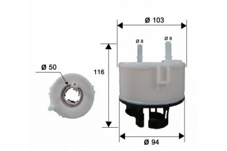 FS13002 FUEL FILTER IN TANK IN-TANK KIA SORENTO XM 4 2.4 10/2009-07/2011  Petrol G4KE9 MPFI DOHC 16V XM V6 3.5 08/2011-06/2015 Petrol G6DC - Truck  Parts and All Filters Hino Isuzu FusoTruck Parts