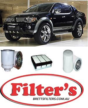 KIT3012 FILTER KIT MITSUBISHI TRITON ML - 3 2L DIESEL 4M41 - 2006 2007 2008  2009 OIL FUEL AIR FILTER SET KIT ML  Common-Rail Turbo Diesel  4Cyl  4M41