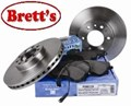 11541.854 REAR DISC ROTOR IVECO ROTORS  65C15 65C17 IVECO Daily 65 Series 65C17 2004 - 2006  BR15207 DR12412