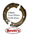 11526-N1547 H/BRAKE HAND BRAKE SHOE SET SHOES  Parkbrake Handbrake Shoes Nissan Patrol GQ Y60 GU Y61 GR Safari Hand Brake Pad Park Brake Hand Brake Drum Shoes Suits 1987-2010 Models  WIDTH IS 45MM BS1547 BB1547 E1547 N1547