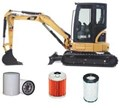 KITC501 FILTER KIT CAT 303CR Engine: Mitsubishi S3L2 CATERPILLAR MINI EXCAVATOR   FILTERS   OIL FUEL  AIR FILTER SET