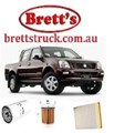 KIT2001 BRETTS FILTERS 4WD FILTER KIT RSK6 HOLDEN RODEO RA 3.0L 3L TURBO 2007-6/2008 4JJ1TC  OIL FUEL AIR FILTERS LUBE SERVICE KIT  MK13257 FE0025