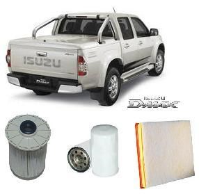 KIT2001 BRETTS FILTER 4WD FILTER KIT RSK6  FILTER KIT   ISUZU DMAX D-MAX  3L TURBO 6/2008-6/2012 4JJ1TC Turbo DiesL 4 CYL 3.0L 4JJ1 OHV 	07/2008-6/12   OIL FUEL AIR FILTER SET KIT   MK13257