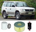 KIT9007 FILTER KIT TOYOTA LANDCRUISER PRADO VZJ95R VZJ95 VZJ 5VE-FE 3.4L V6  FILTER KIT  OIL FUEL AIR FILTER  SERVICE SET KIT