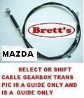 SPEC 12230.508 SHIFT CABLE MAZDA FORD TRADER T4600 2000- W627-46-510 W627-46-510G W62746510 W62745510G   4.6 4.6LTR 4.6L TM  TRANSMISSION CHANGE CABLE GEAR CHANGE