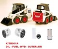 KITB001A FILTER KIT BOBCAT 753 753G 763 763G 763H 773 WITH KUBOTA V2203 V2203E SERVICE OIL FUEL AIR HYD HYDRAULIC 6900616 WFK00090