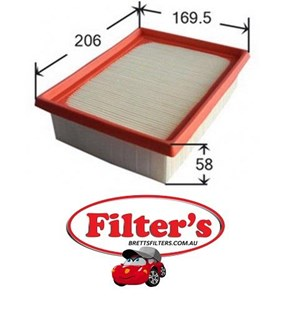A0183 AIR FILTER PEUGEOT 2 For Peugeot 206 GTi Petrol 2.0L Refer A1655 9/1999-2007 GTI    4    2.0L 2L    09/1999-07/2007    Petrol    EW10J4 Air Supply Sys    Oct 99~    1.8 L   Aug 98~Dec 01    1.9 L        WJZ     EW10J4  Dec 99~    2.0 L