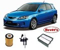KIT6001 FILTER KIT MAZDA 3 MAZDA3 2.3L PETROL 2003-2009 OIL FUEL AIR FILTER FILTER SET KIT KITS