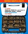 GKA236 236 PC HI-TEN METRIC BOLT & NUT SET Metric Bolts & Nuts Grab Kit Sizes: 14 sizes ranging from 4mm to 10mm Diameter