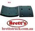 AF342  BRAKE LINING KIT SET REAR WITH 16