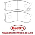 PN00346 DB3048 FRONT DISC PAD SET MITSUBISHI CANTER FB511 1998-  MC894576 MC894577 3G5026 11522.002 MITSUBISHI/FUSO CANTER FB511 03/1998-09/2002  CDB3048M