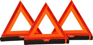 84200 SET OF 3 TRIANGLES IN PLASTIC H/D HEAVY DUTY CARRY BOX WARNING TRI ANGLES  KIT OF 3 LIKE NARVA