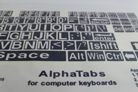 Alphatabs PC Keyboard Stickers