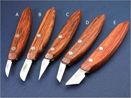 """[E] 1.25"""" Stab Carving Knife (32mm Angled) High Carbon Steel"""