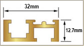 Scale Track Gold 1220mm