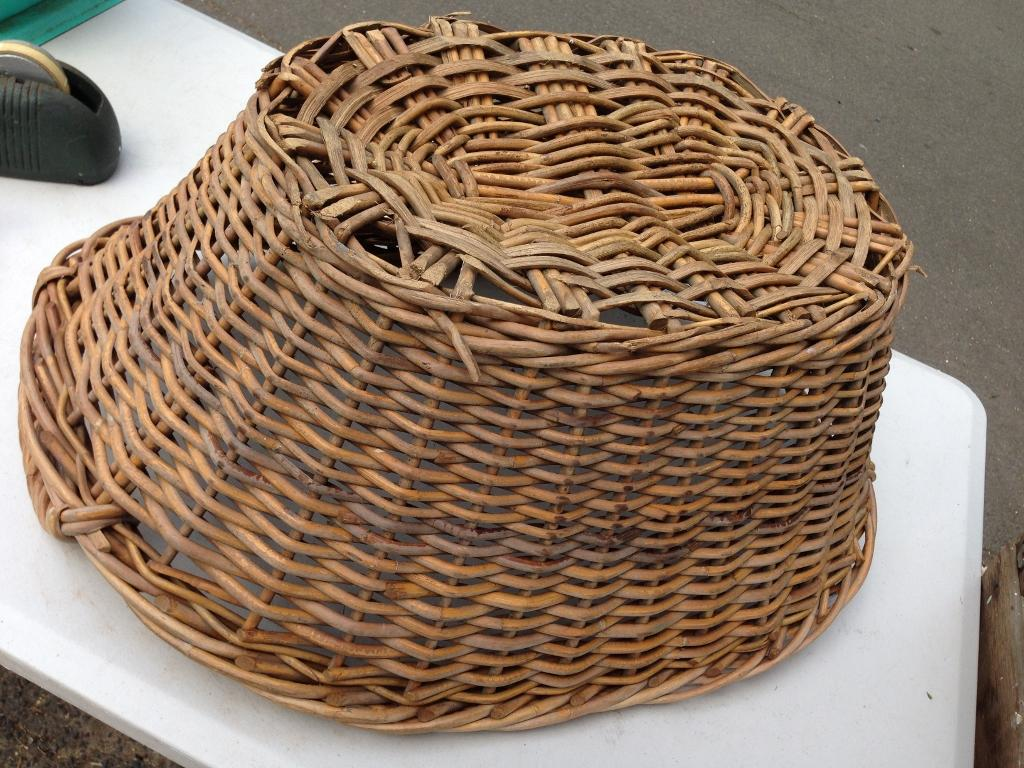 Classic Old Vintage Wicker Laundry Basket Great Display