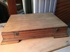 Vintage Cedar Timber Box Stripped Ideal for Jewellery Desktop.