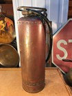 Vintage Australian Rezal Copper & Brass Fire Extinguisher Rustic Display