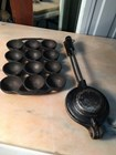 Vintage Australian Kitchenalia Cast Iron Gem Scone Tray & Jaffle Iron