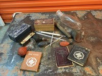 Collection of Early Vintage Nurse Doctor Medical Equipment & Books