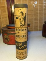 Vintage English Robin Hood Brand Wooden Fiddle Sticks Game in Original Case