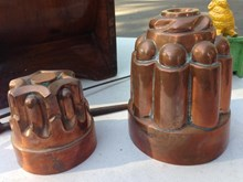 Antique Copper & Tin Lined Jelly Moulds