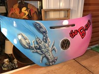 2007 Year Model VW Beetle Hatch Tailgate with B52's Rock Lobster Art Man Cave Bar