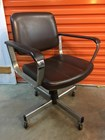 Retro Vintage Chrome & Vinyl Office or Waiting Room Chair