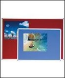 Vision Chart Felt Pin Board 900mm x 600mm Aluminium Frame Blue Or Grey.