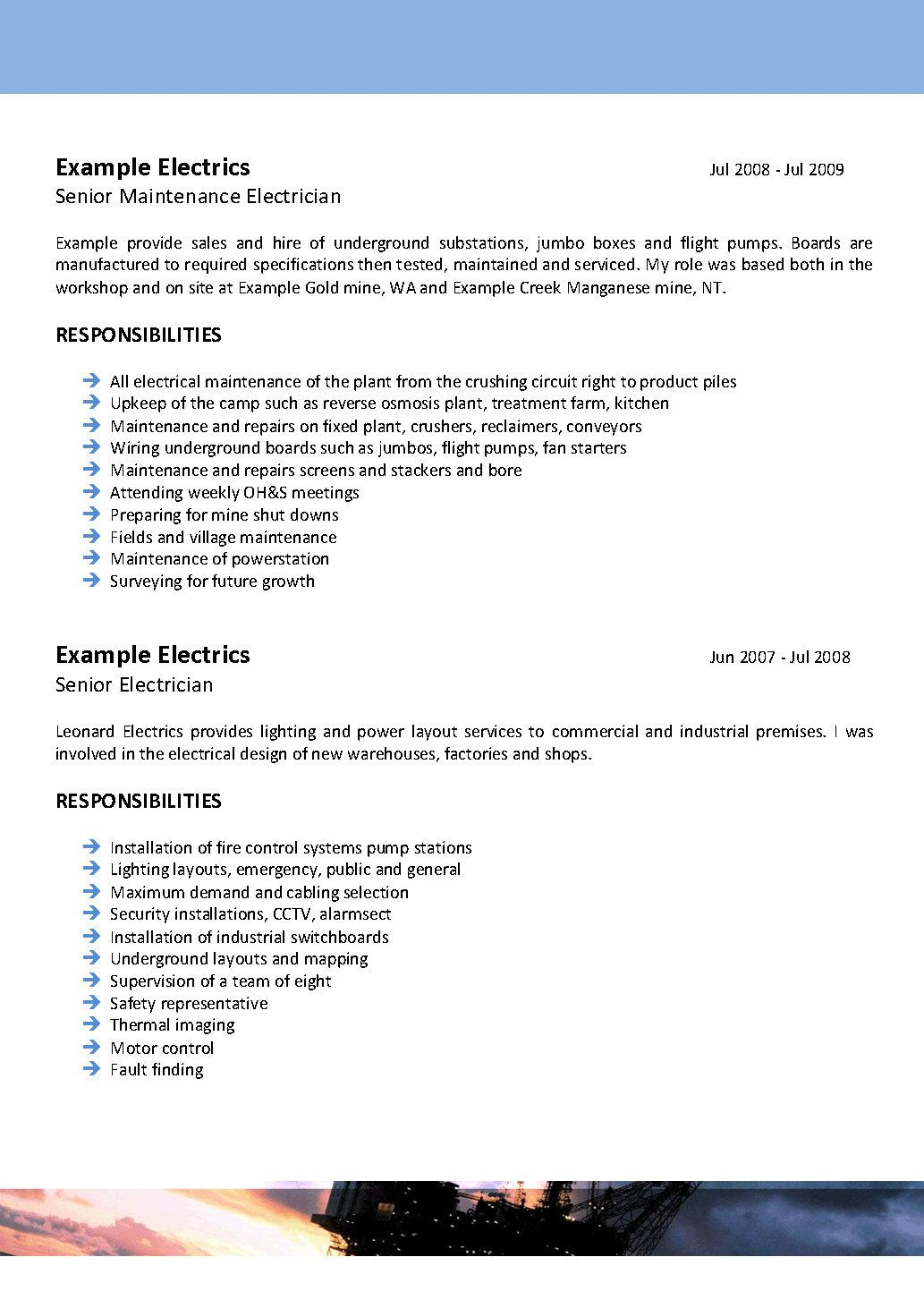 professional resumes perth