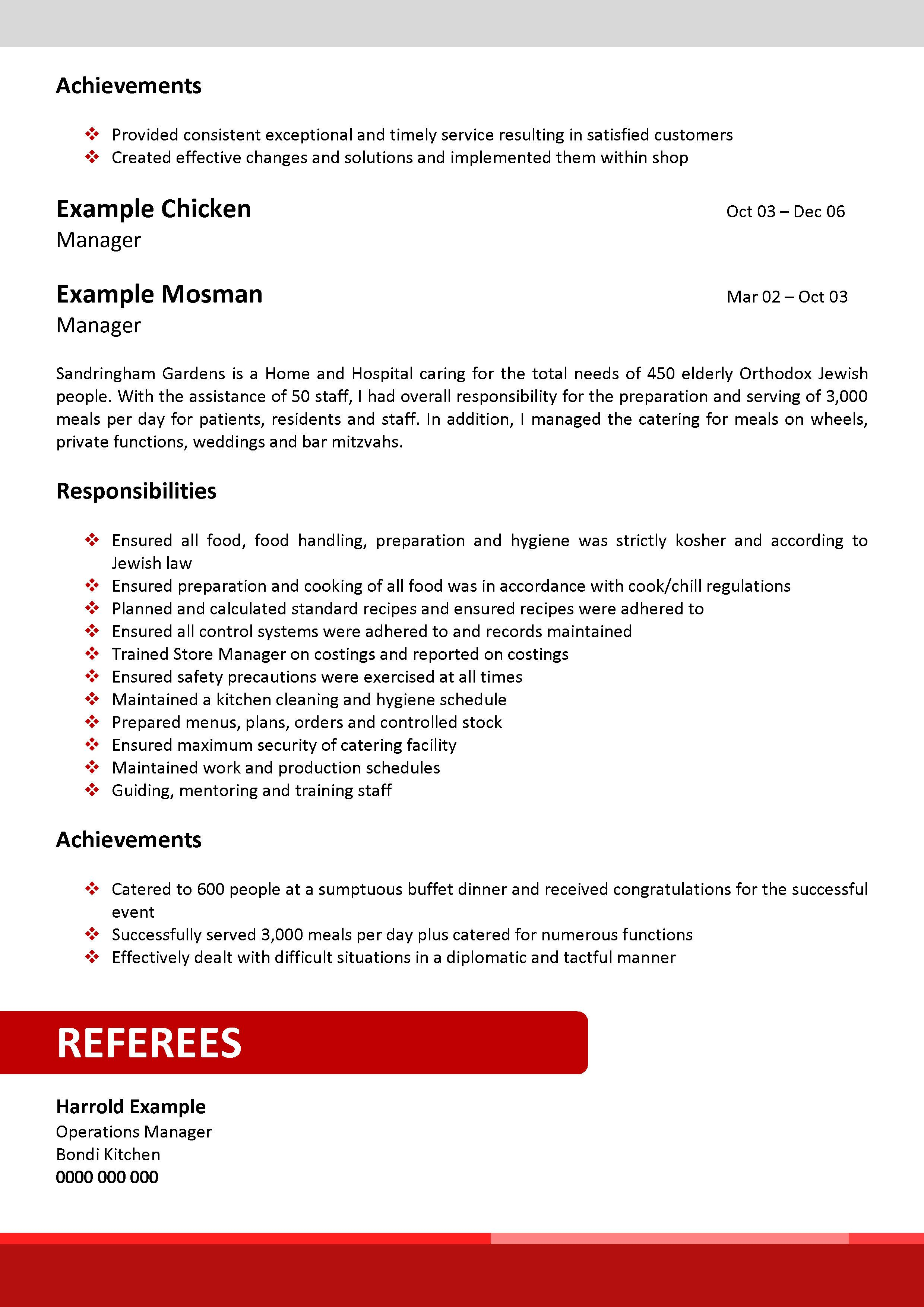 red corporate resume template 030