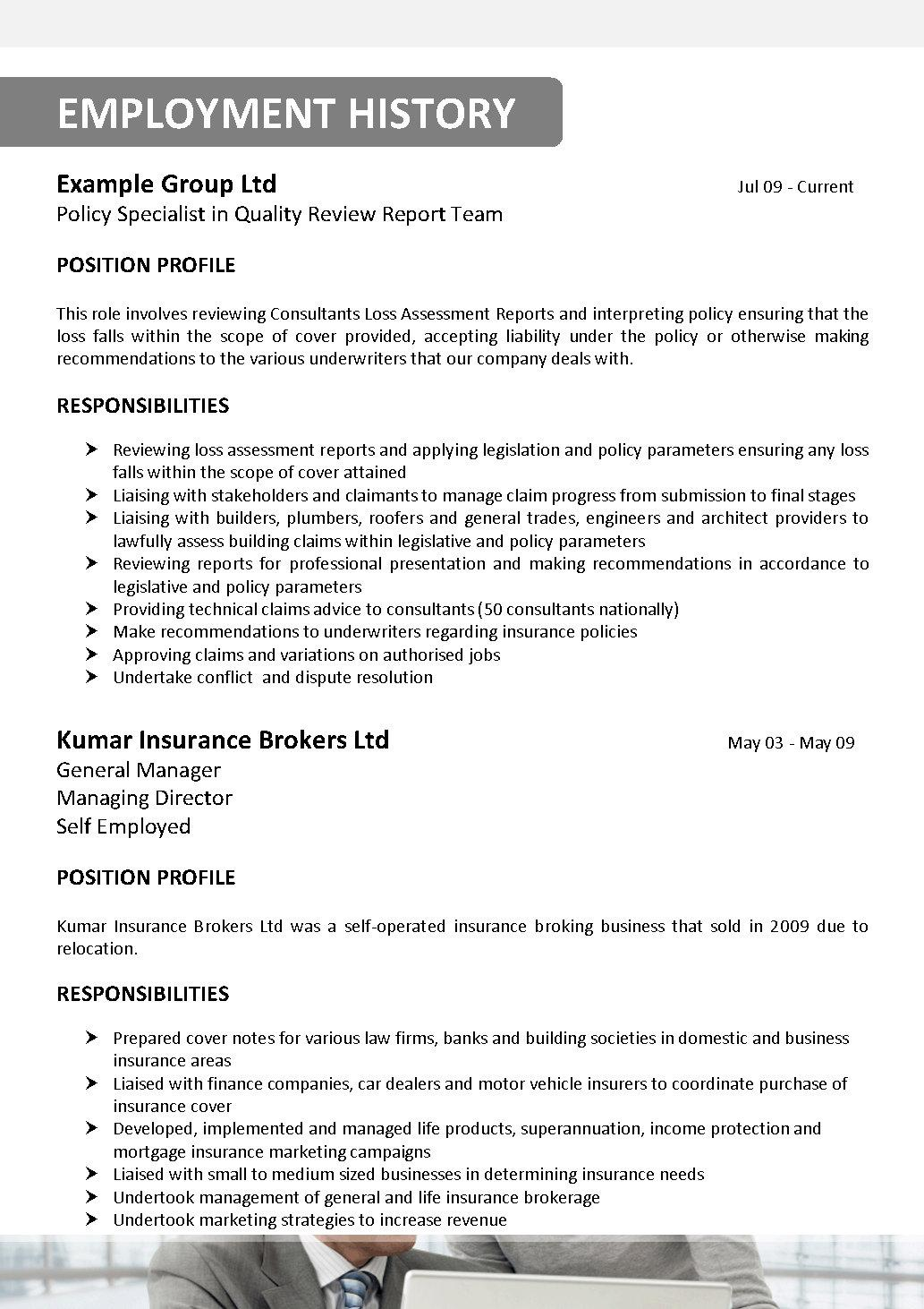 Insurance Broker Resume Sample  Insurance Broker Resume