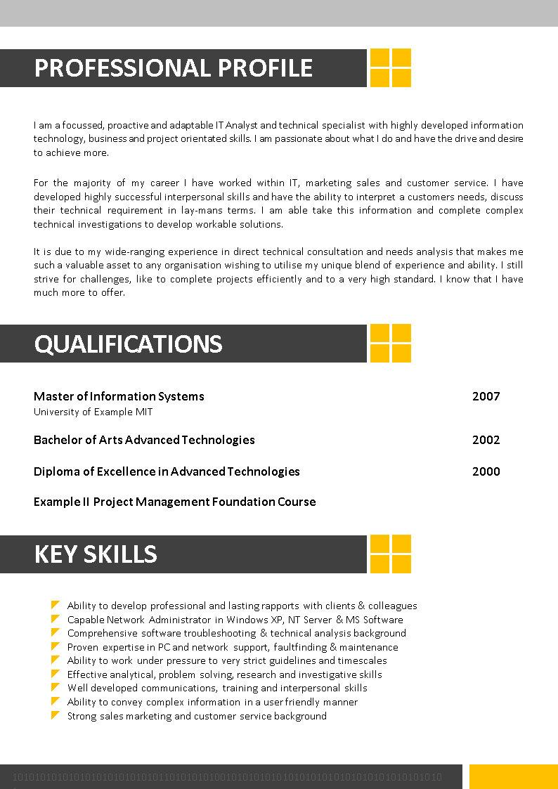 octechwriting 06 resume tutorial - Information Technology Resume Template