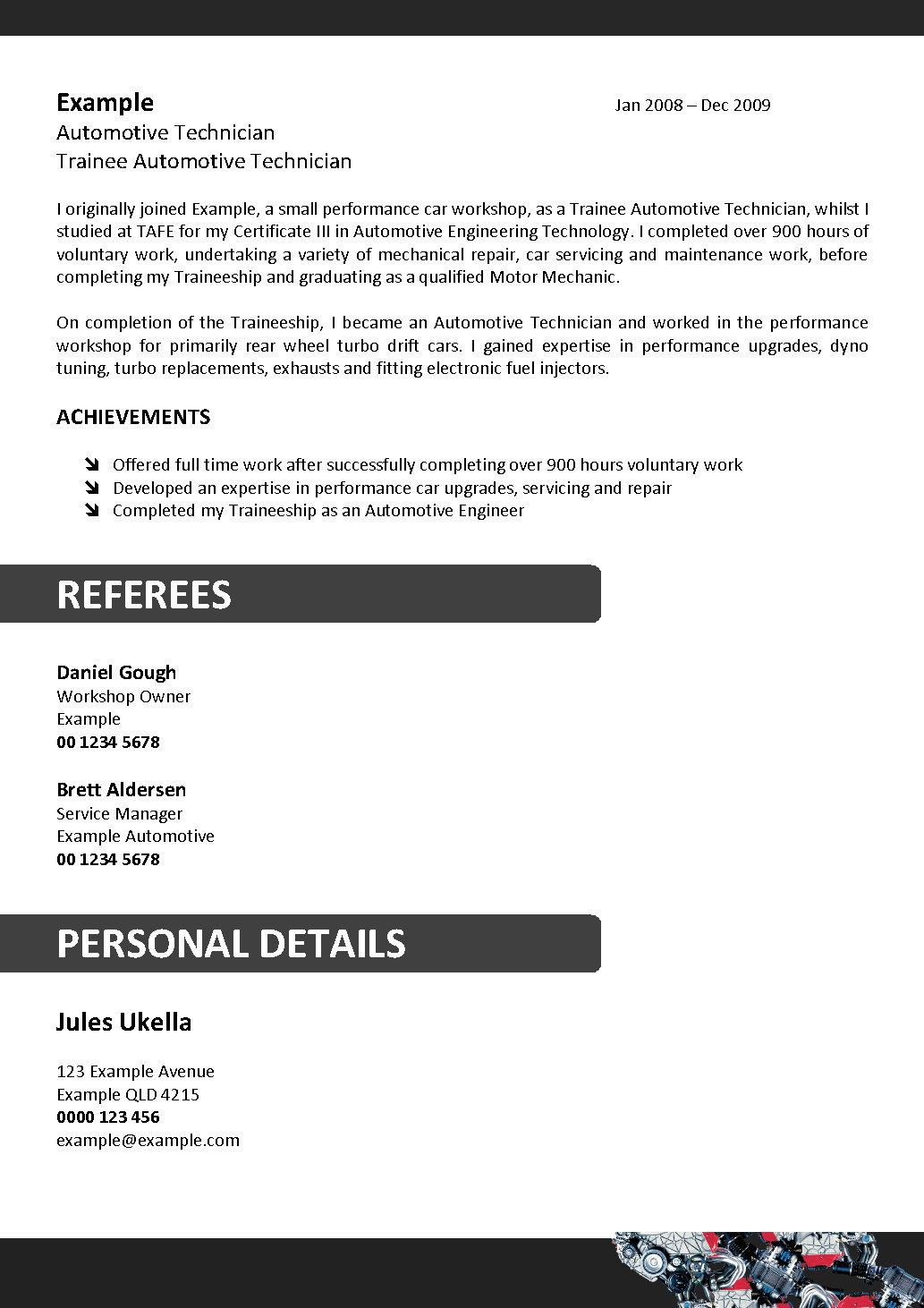 Automotive Technician Resume lube technician resume sample We Can Help With Professional Resume Writing Resume Templates