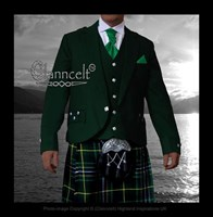 Argyle Jacket and Vest - Green