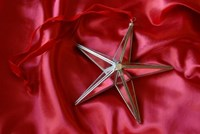 Mirror Faced Star with velvet ribbon