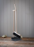 Dust pan and brush with long beech handle - SECONDS