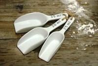 Kitchen Measuring Scoops - Ceramic
