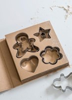 Set of 4 Cookie Cutters - Stainless Steel