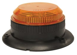 LV0603 - Amber Low Profile Strobe With Fixed Mount Base