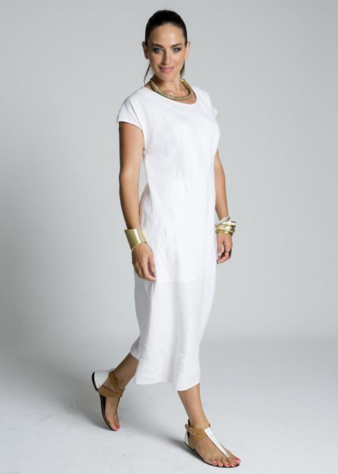 Plus-size Women's - Floral Crochet Inset Linen Dress. Love me a linen dress! Stay cute and confident with this sweet, stylish, and sleeveless look, featuring a classic, pretty princess seamed fit and fashionably feminine floral crochet lace.