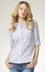 Verge - spotty cotton shirt