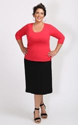 FINAL SALE - Weyre - raspberry scoop top
